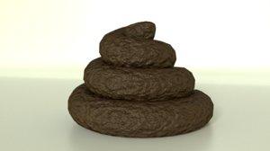 poop asset 3D
