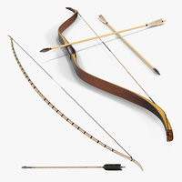 wooden bows 3D model