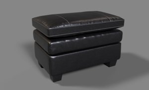 cleason chair ottoman 3D model