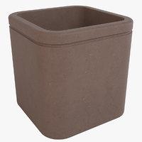 decorative pot 3D