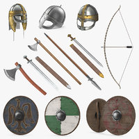 3D viking weapons 2 model