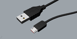 3D original micro usb design