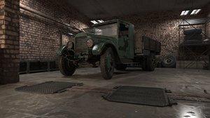 garage old car 3D model
