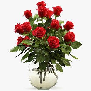 3D rose bouquet
