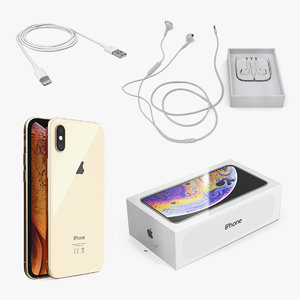 3D apple iphone xs mobile phone