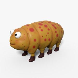 cartoon caterpillar model