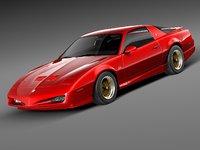pontiac firebird trans 1991 3d model