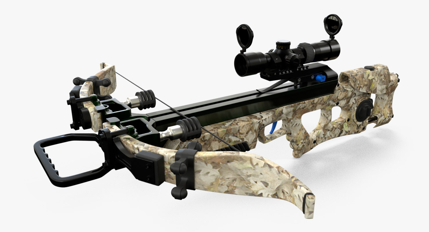 3D model hunting crossbow