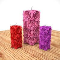 3D candle rose model