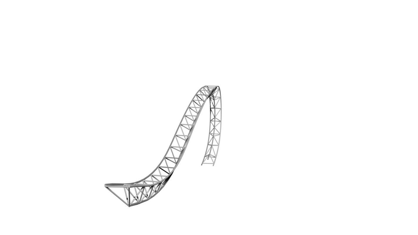 curved truss structure 3D