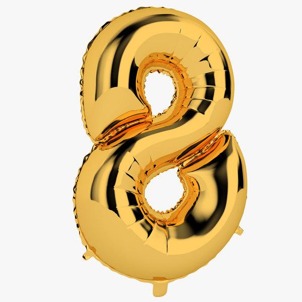 3D foil balloon digit