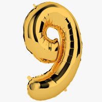foil balloon digit 3D model