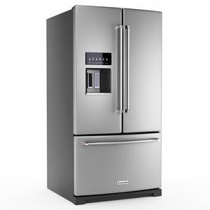3D french door refrigerator