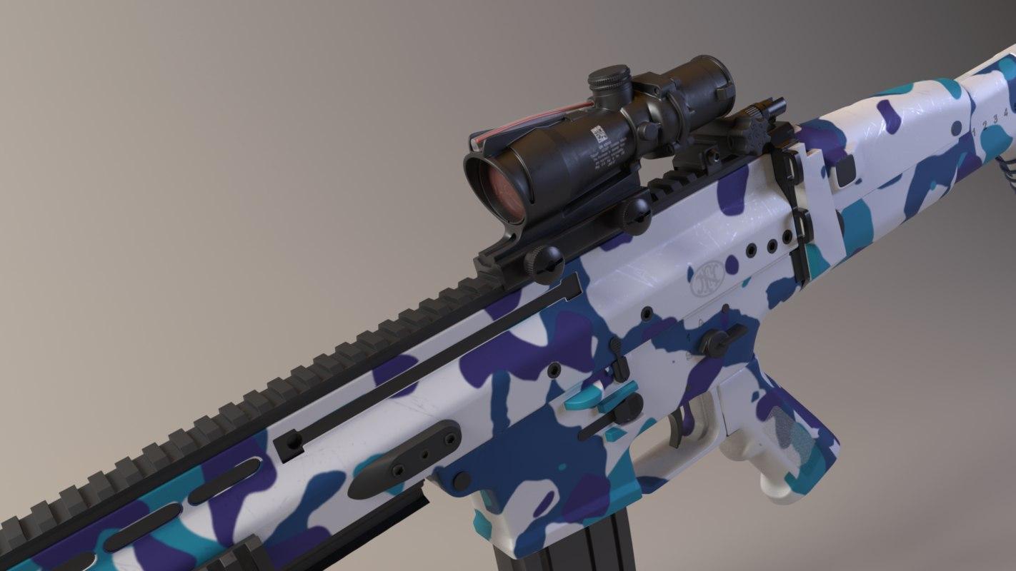 3D scar-l assault rifle