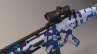 3D scar-l assault rifle