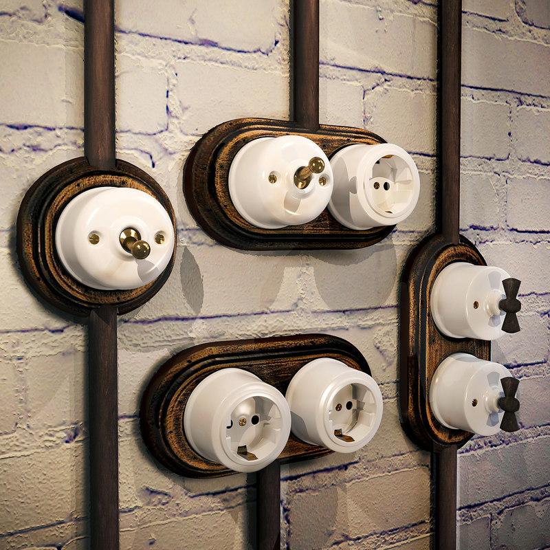 3D sockets switches loft style model