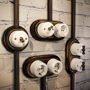 3D sockets switches loft style model
