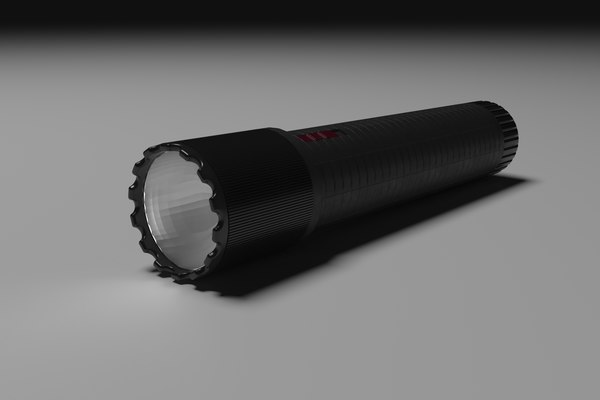 compact flashlight led lights 3D model