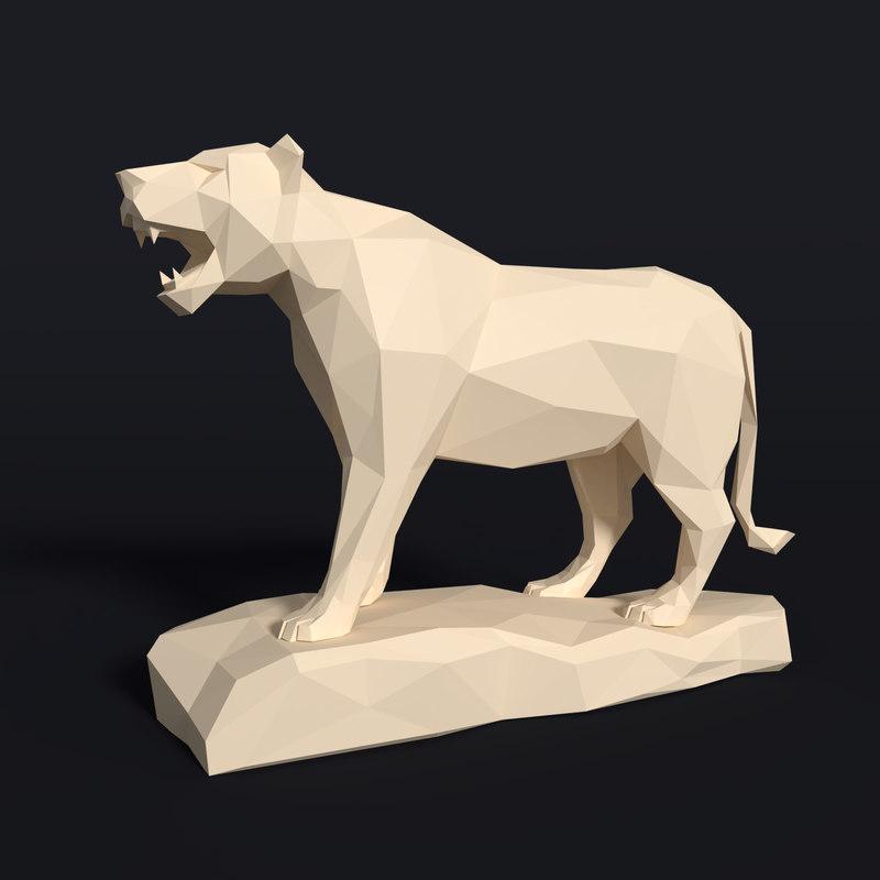 3D tiger figurine