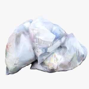 pile garbage bags 3D model