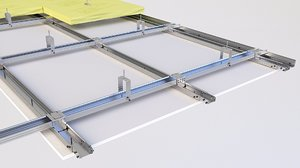 3D ceiling insulation drop