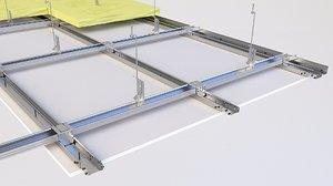 ceiling insulation drop 3D