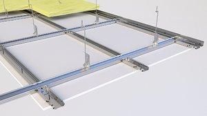 ceiling insulation drop 3D model