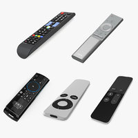 TV Remotes 3D Model Collection
