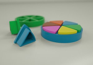 trivial pursuit 3D model