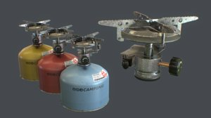travel gas stove 3D model
