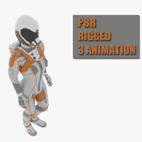 3D female space suit model
