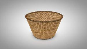 natural basket 3D model