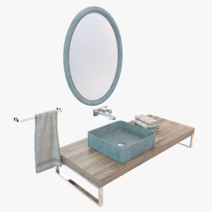 concrete washbasin sink model