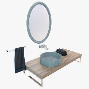 concrete washbasin sink 3D model