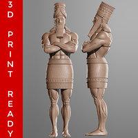 daniel 2 statue sculpt 3D