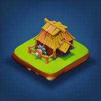 Sawmill - RPG Medieval Low-poly