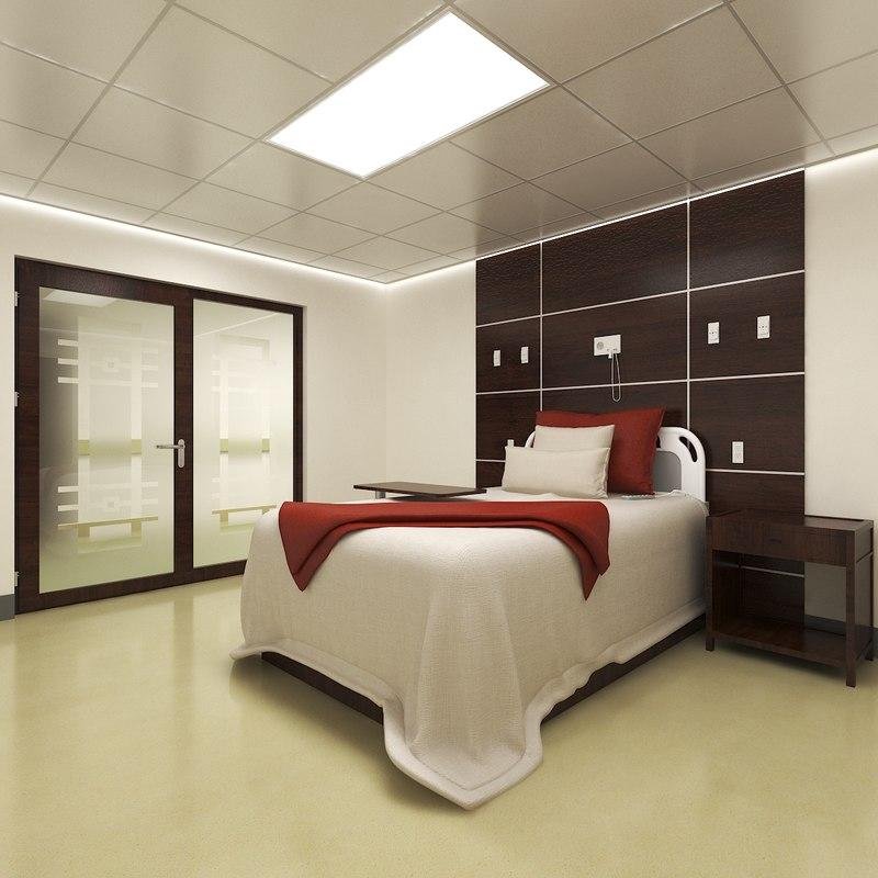 3D hospital room nurse