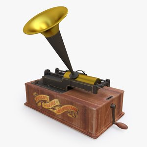 edison home phonograph 3D model