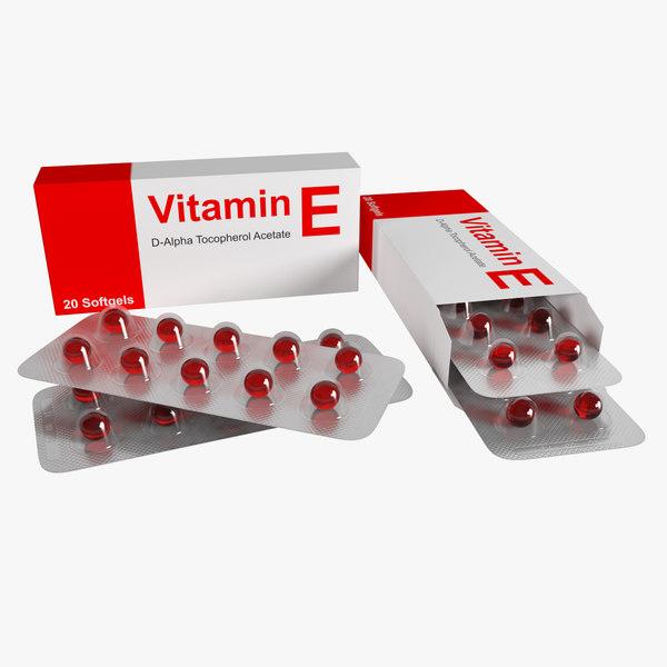 3D blister pill vitamin e