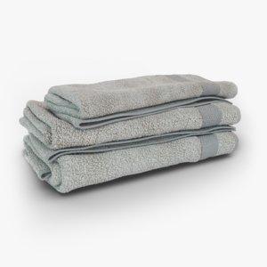 3D hand towels model