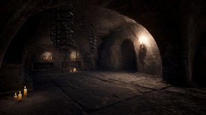3D old catacombs