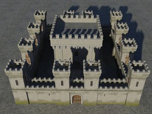medieval fortress 3D
