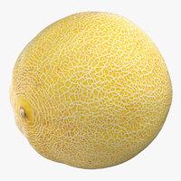 galia melon 01 3D model