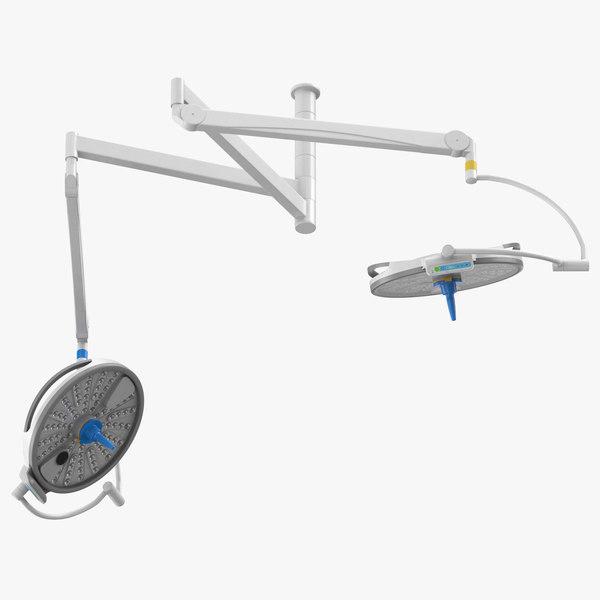 3D surgical lights