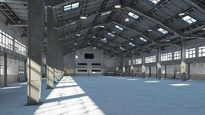warehouse interior exterior 2 3D
