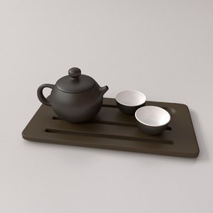 3D model chinese tea set