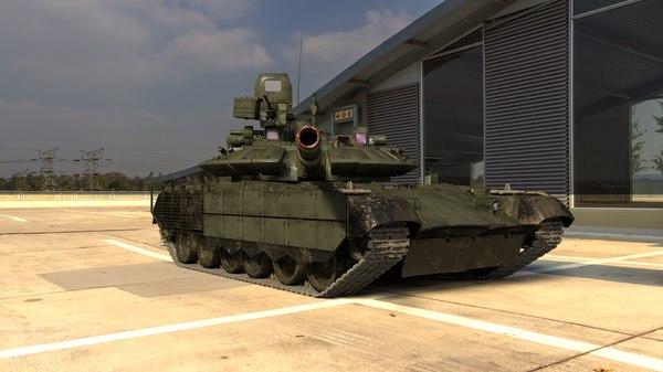 3D model russian t-80 bvm tank