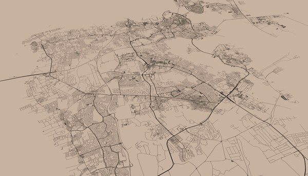 bahrain streets mapping 3D