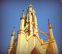 old gothic church 3D