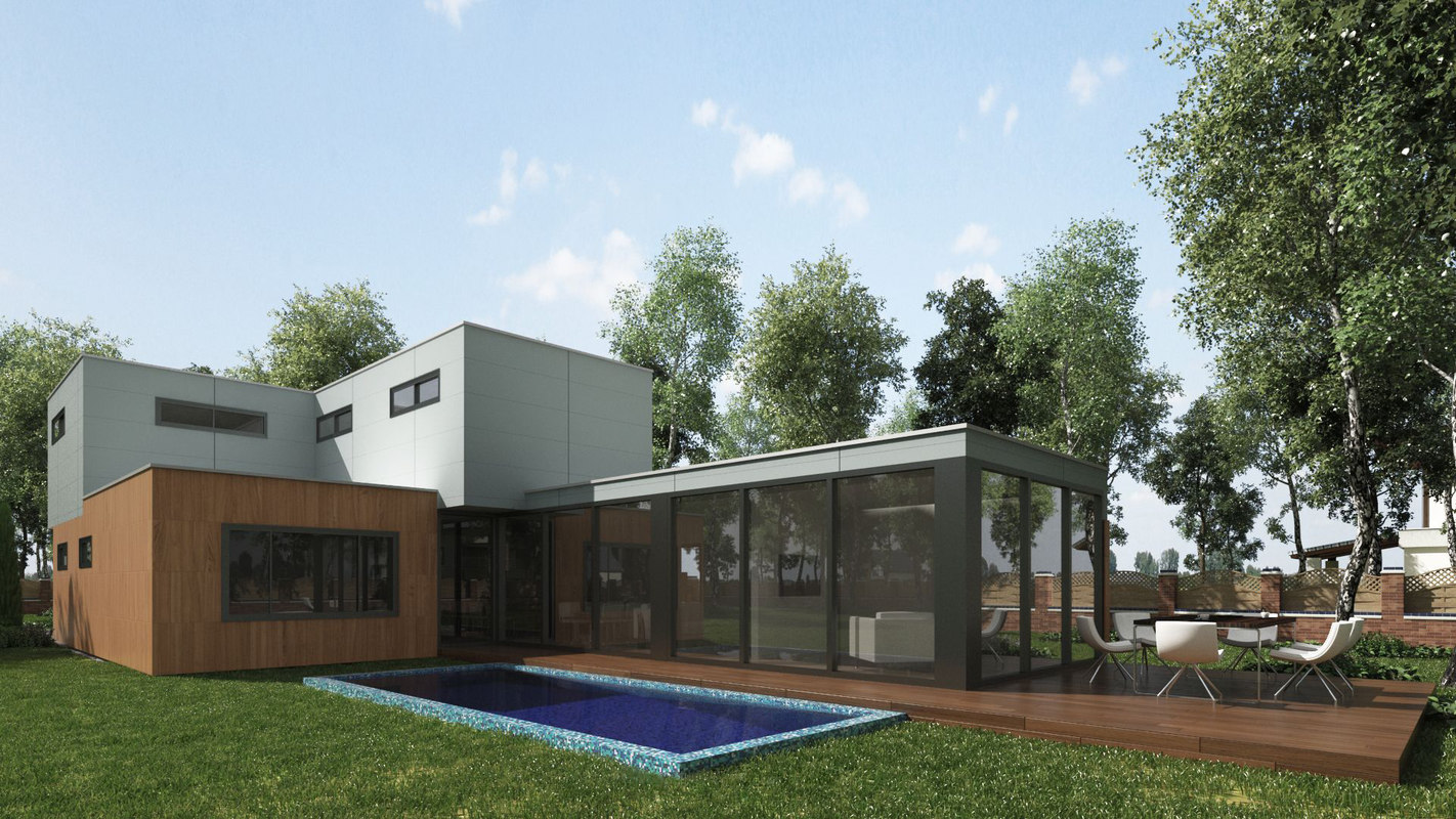 3D model arce villa